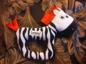 Lamaze zebra csörgő