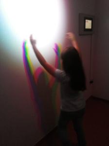 Fénytani kísérlet a Labor-ban